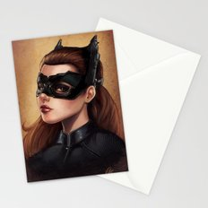 Cute Catwoman Painting  Stationery Cards