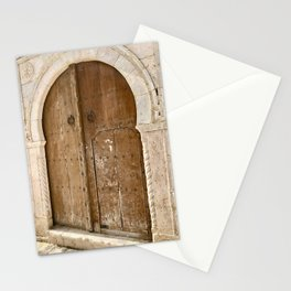 Authentic Door Photo | Tunisia Travel Photography | Arab style Wooden Door Stationery Cards