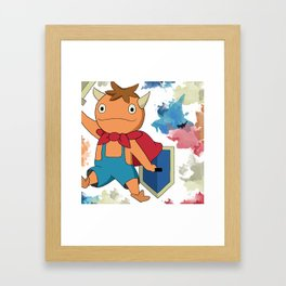 Ni No Kuni Familiar 'Mitey' - Watercolour Framed Art Print