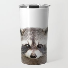 Raccoon Baby Animals Art Print by Zouzounio Art Travel Mug
