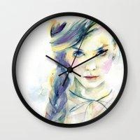 ultraviolence Wall Clocks featuring Ultraviolence by Cora-Tiana