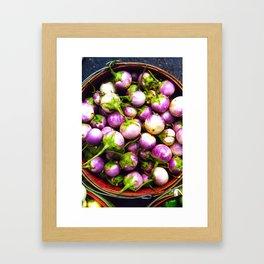 Farmer's Market Eggplants Framed Art Print