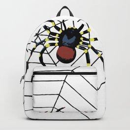 two big Spider Halloween web Backpack