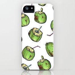 At the Coconut Stand iPhone Case