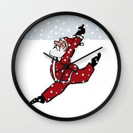Dancing Santa - 4 Wall Clock