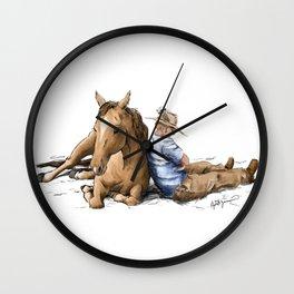 Siesta | Sleeping Horse & Cowboy Wall Clock