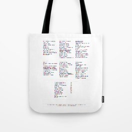 Air Discography in Colour Code Tote Bag