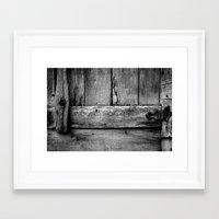 wooden Framed Art Prints featuring wooden by Bonnie Jakobsen-Martin
