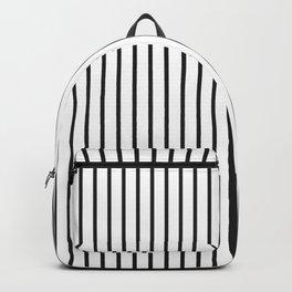 Garden Sludge Grey Pinstripe on White Backpack