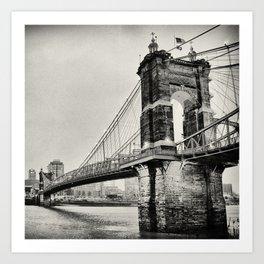 Roebling Suspension Bridge Art Print