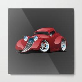 Red Street Rod / Hot Rod Custom Coupe Metal Print