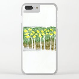 Yellow flowers 2 Clear iPhone Case