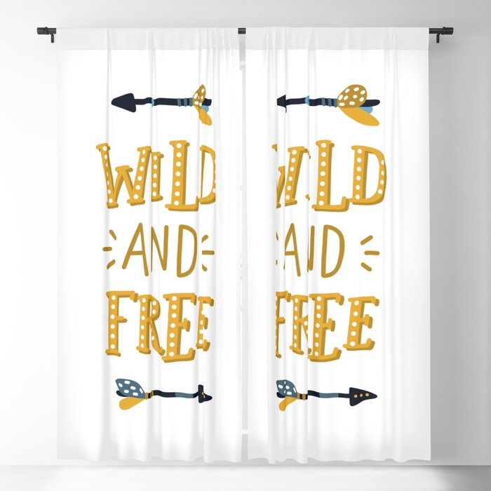 wild and free Little explorer Blackout Curtain
