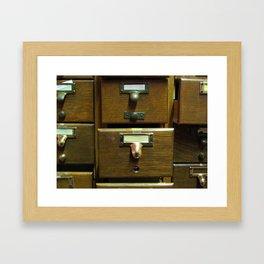 Used Card Catalog (Full of Toys) Framed Art Print