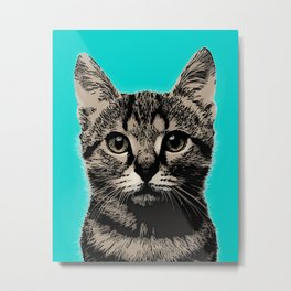 Cat. Pop art cat Metal Print