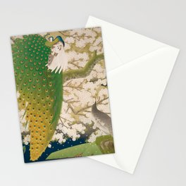 Peacocks and Cherry Tree Stationery Cards