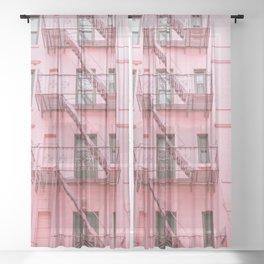 Pink Soho NYC Sheer Curtain