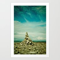 meditation Art Prints featuring Meditation by Olivia Joy StClaire