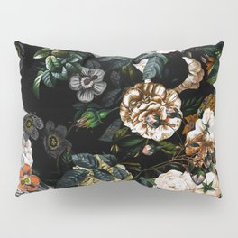 Floral Night Garden Pillow Sham