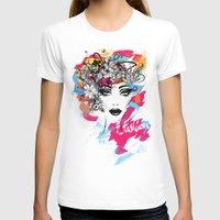 fashion illustration T-shirts featuring fashion illustration by Irmak Akcadogan