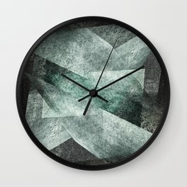 green gray shades Wall Clock