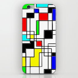 Homage to Piet Mondrian iPhone Skin
