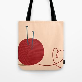 Knitted Love Tote Bag