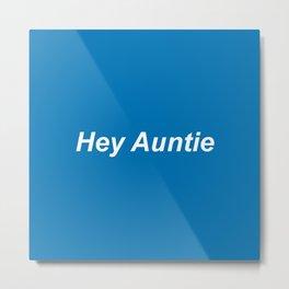auntie: blue Metal Print