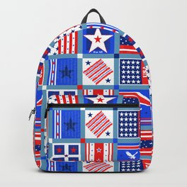 4th July Patchwork Backpack