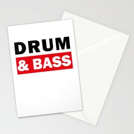Drum And Bass Stationery Cards