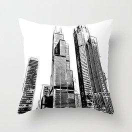 Chicago's Willis Tower Throw Pillow
