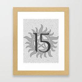 SPN Print (Grey) Framed Art Print