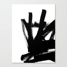Abstract black & white 1 Canvas Print
