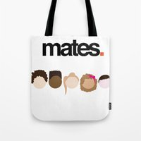 misfits Tote Bags featuring Misfits Cheers by The Kid