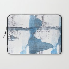 Blue hand-drawn watercolor Laptop Sleeve