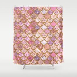 Rose Gold Mermaid Vibes Shower Curtain