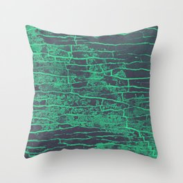 Green Grey Stone Throw Pillow