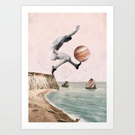 I jump high Art Print