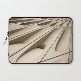 Architectural abstract of the Broad (rhymes with road), Los Angeles, California Laptop Sleeve