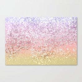 Summer Unicorn Girls Glitter #1 #shiny #pastel #decor #art #society6 Canvas Print
