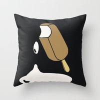 popsicle Throw Pillows featuring Popsicle by lazybones