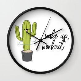 Cactus workout Wall Clock
