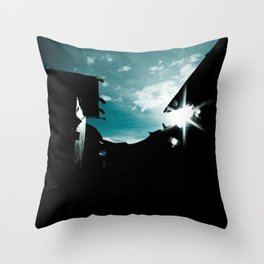Blue in China Throw Pillow