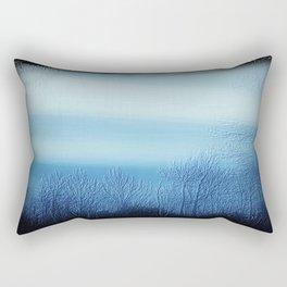 Bleu Noir Dusk Landscape Rectangular Pillow