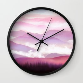 Candy Floss Mist Wall Clock