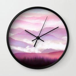Candy Floss Mist Wall Clock