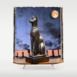 Dreaming of Schrödinger - Who Let the Cat Out? Shower Curtain