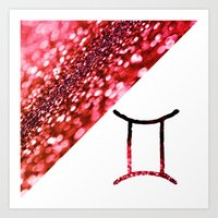 gemini Art Prints featuring Gemini by haroulita
