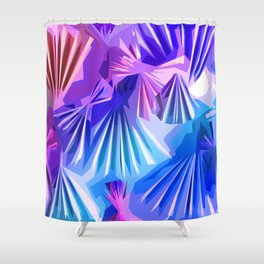 Funky Shell Texutre Shower Curtain