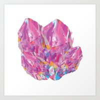 Pink Gem Art Print